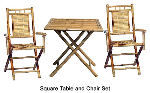 Bamboo Chairs And Table Set ...