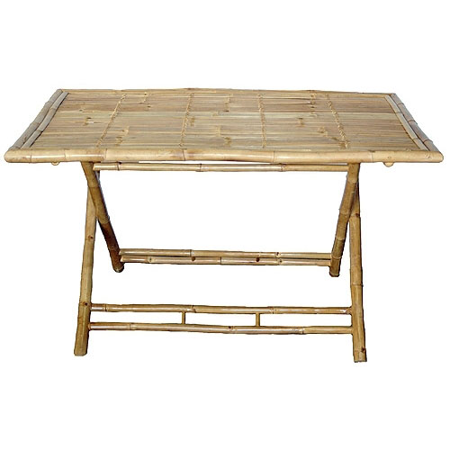 Bamboo Table With Design: Palapa Structures