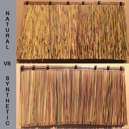 Natural vs Synthetic African Reed Thatch