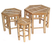 Bamboo Neting Hex Stools