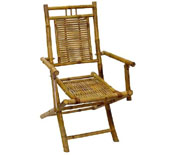 Bamboo Folding Chair w/Armrests