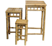 Bamboo Neting Square Stool