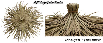 Art Baja Palm Synthetic Thatch Panel