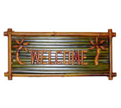 Welcome Bamboo Sign