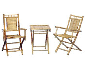 Bamboo Chairs and Table Set