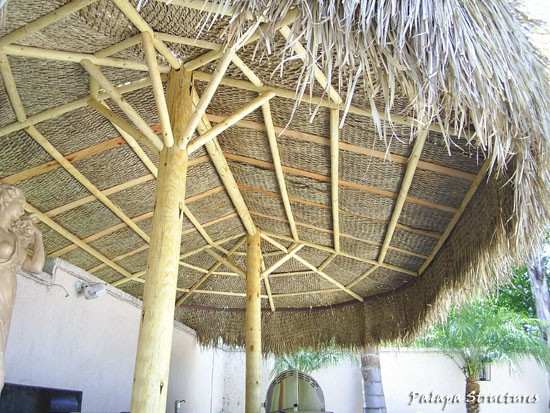 how to build a palapa frame