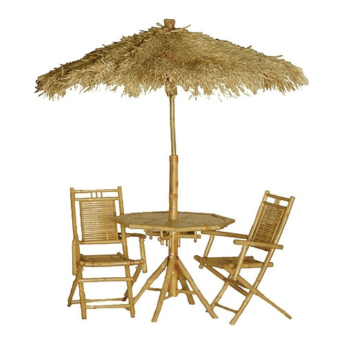 Bamboo Palapa Table And Chair Set